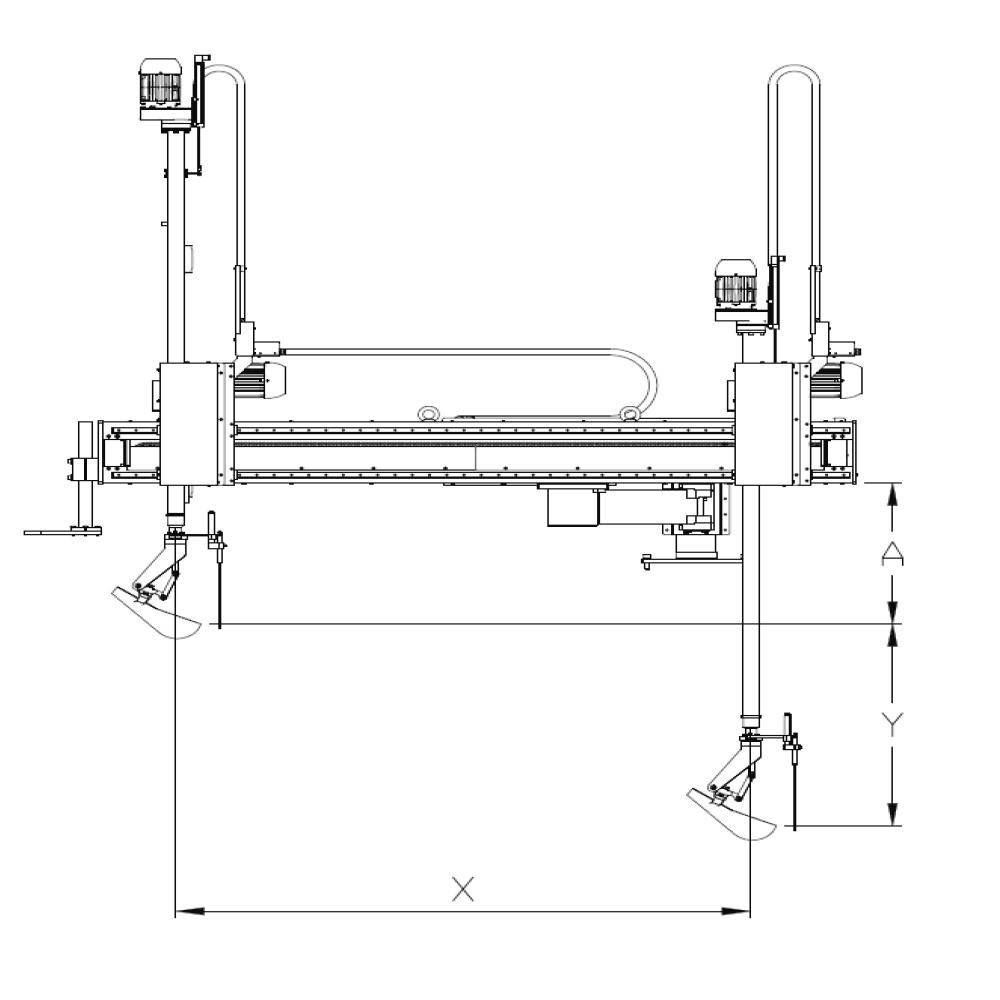 Dimensões Dosador Linear Automático Allpresse